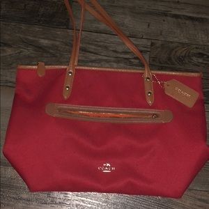 Red Full Size Coach Purse
